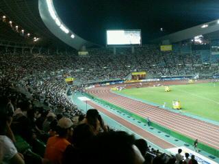 スタジアムの熱気